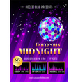 Night club flyer template vector image vector image