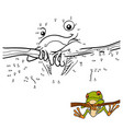 numbers game for children red-eyed tree frog vector image vector image