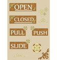 open and closed two