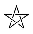 pentagram sign - five-pointed star magical symbol vector image