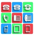 Phone Icons With Shadow vector image vector image