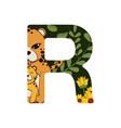 r font letter vector image vector image
