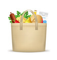 realistic 3d detailed textile shopping bag with vector image vector image