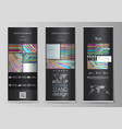 roll up banner stands abstract style templates vector image vector image