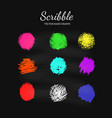 scribble smears set vector image vector image