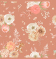 seamless floral texture pastel dry flowers vector image