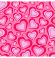 seamless pattern of pink hearts for Valentines Day vector image
