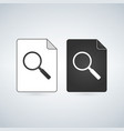 search document file icon with magnifying glass vector image vector image