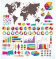 set of elements for infographic vector image