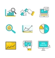 Set of Icons Flat Style Data Analysis vector image