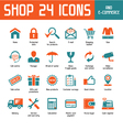 Shop 24 Icons vector image