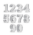 silver 3d numbers vector image vector image