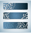 silver horseshoes banners set vector image vector image