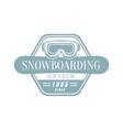 Snowboarding Ice Club Emblem Design vector image vector image
