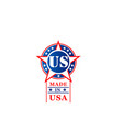 star icon for made in usa tag vector image vector image