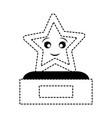 star trophy design vector image