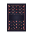 stars border decoration dark background card vector image