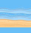 summer sea beach background vector image vector image
