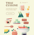 thai food poster template vector image vector image