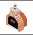 traditional brick oven for cooking and baking vector image