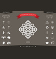 traditional geometric oriental arabic pattern - vector image