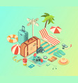 travel assets pack vector image vector image