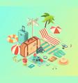 travel assets pack vector image