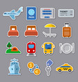 travel stickers vector image vector image