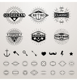 Vintage lines insignia set with star burst hipster vector image vector image