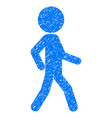 walking child grunge icon vector image vector image