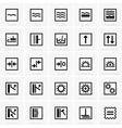 Wallpaper Symbols vector image vector image