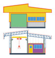 warehouse building transport factory vector image vector image