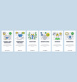 web site linear art onboarding screens vector image vector image