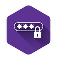 white password protection and safety access icon vector image vector image