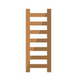 wooden staircase icon in flat style vector image