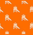 wooden stilt house pattern seamless vector image vector image