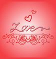 word love hand drawn vector image