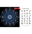 zodiac circle composition vector image vector image