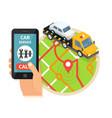 evacuation service car assistance vector image