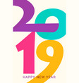 2019 happy new year vertical geometric vector image vector image