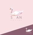 3d origami low polygon swan vector image vector image