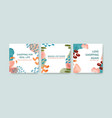 advertise template with shopping design vector image vector image