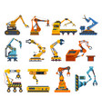 arms robot factory machine industry robotic hands vector image vector image
