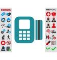Card Processor Icon vector image vector image