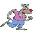Cartoon Running Werewolf vector image vector image