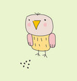 chicken with feed kawaii style vector image