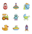 children toys icons set cartoon style vector image vector image