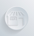 circle icon with a shadow shop building vector image
