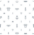 clothes icons pattern seamless white background vector image vector image