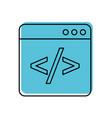 coding window web programming development vector image vector image